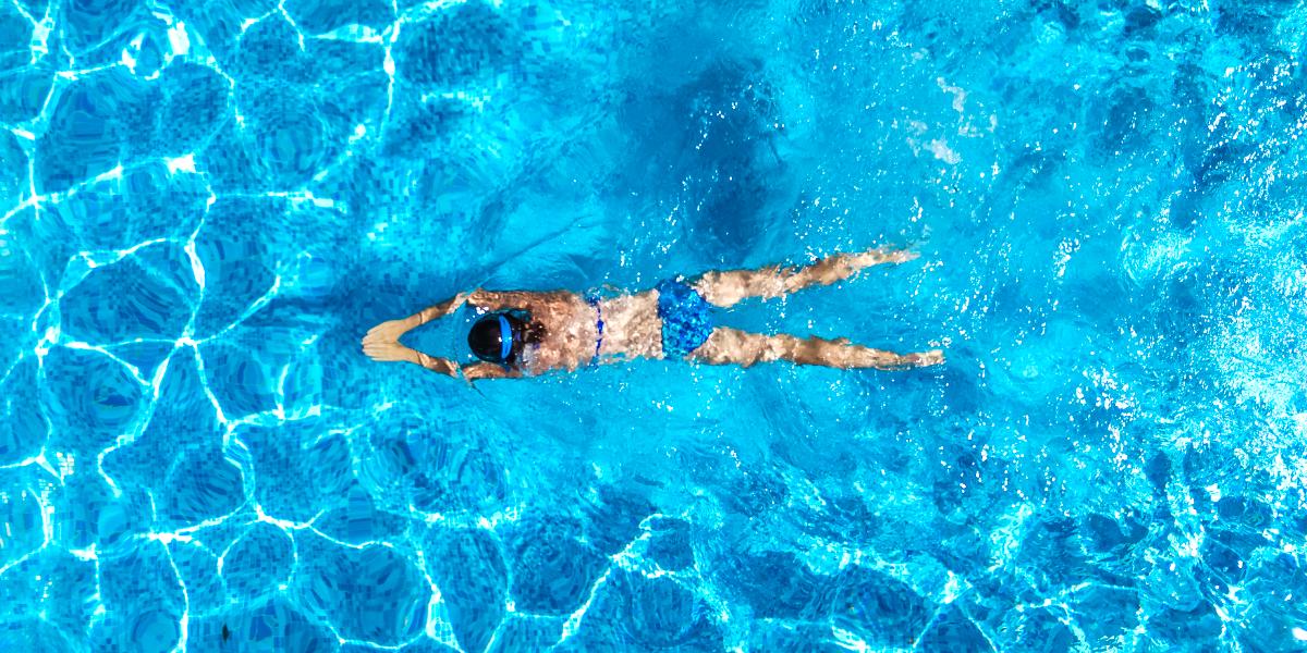 Bewegungstisch zum Abnehmen durch Schwimmen