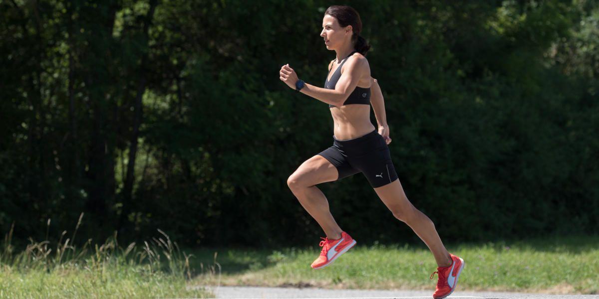 Sabrina Mockenhaupt beim Lauftraining